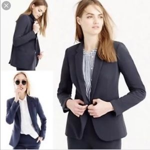 $228 J.CREW Single Button Jacket Slate Gray Blazer